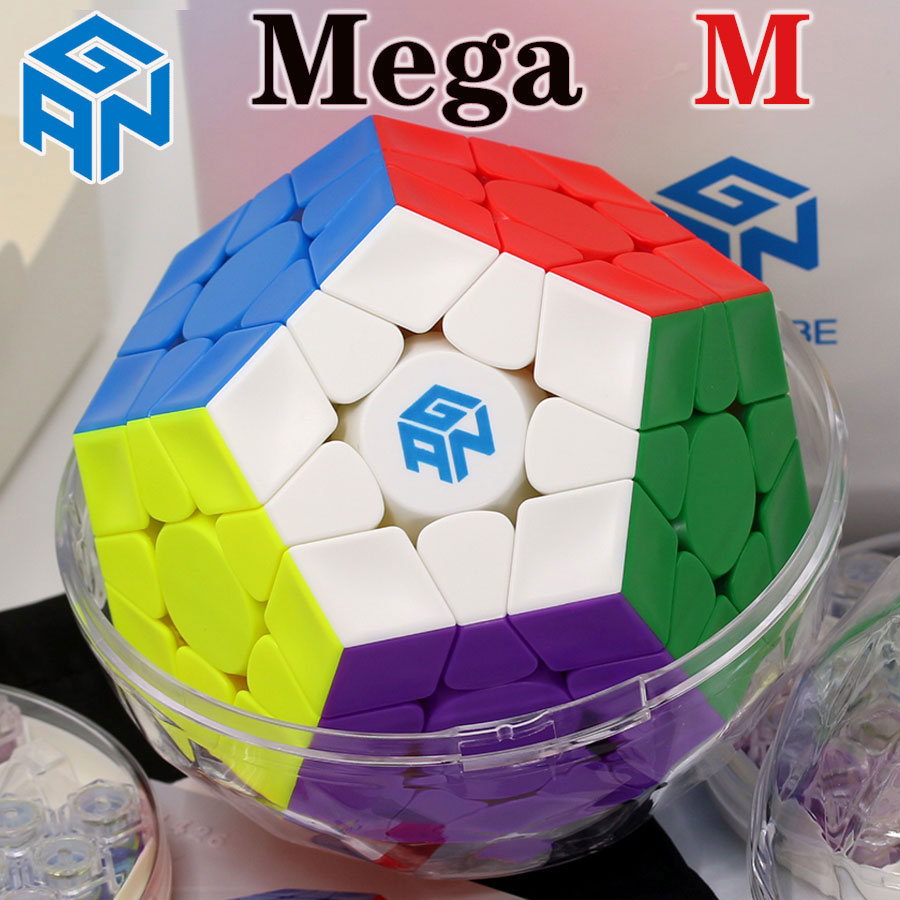 Cubo mágico rompecabezas GAN mega M megaminxeds gancube magnético 12 caras cubo dodecaedro profesional megamina x speed cube Juguetes