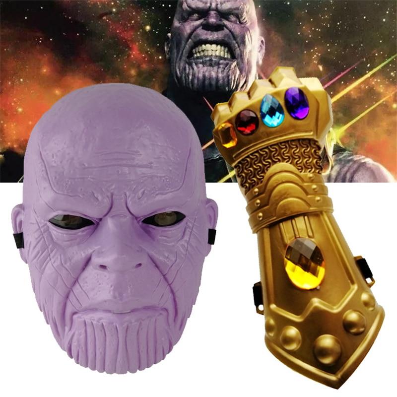 Фигурка танос, брелок, маска Таноса, перчатка, пластик