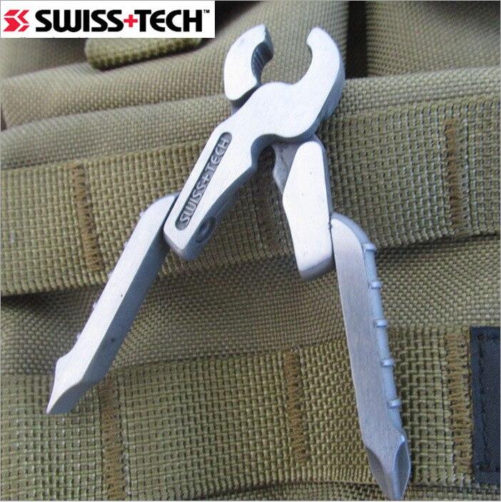 1 ud. SWISS EDC GEAR TECH 8 en 1 Mini alicates de bolsillo portátiles destornillador de precisión pequeño Multi herramienta llavero micro-pro XL900