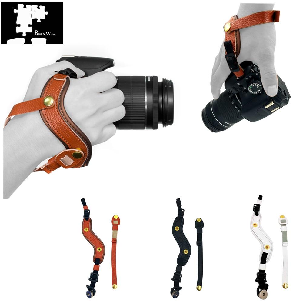 Cámara de mano muñeca correa de cuero para Olympus OMD EM1 EM5 EM10 OM-D E-M1 E-M5 E-M10 Mark III II 3 2 Sony A9 A7S A7R A7 III II