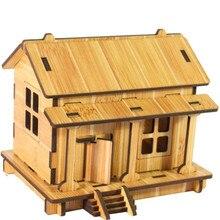 Kinder DIY Haus 3D jigsaw puzzle spielzeug holz erwachsene Kinder intelligenz spielzeug Haus Modell Gebäude Kit Geschenke 2020 игрушки & jw