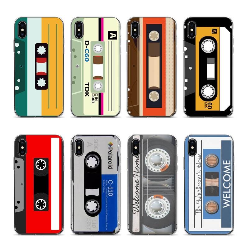 Aiboduo Classic retro cassette tape phones Coque For iPhone XSmax XR XS X 7 7plus 8 8plus 6 6s 6plus 5 5S SE cover case