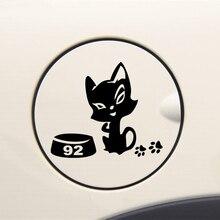 Trois Ratels TZ-614 10*11.6cm 1-5 pièces chats chatte sur un réservoir dessence pour filles autocollants auto autocollants