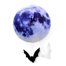 Blu Luna Oscillante Orologio Da Parete A Pendolo Astronomia Divertente Decor Orologio Da Parete Lunare Luna Blu Orologio con Oscillante Silhouette Pendolo