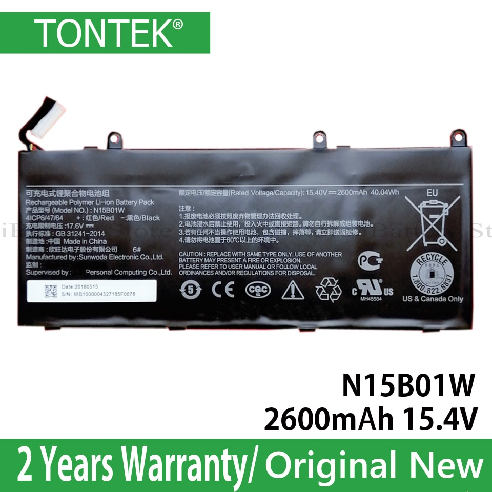 Genuine N15B01W Battery For Xiaomi Mi Ruby 15.6 inch Timi TM1703 Laptop Notebook Windows 10 Series O