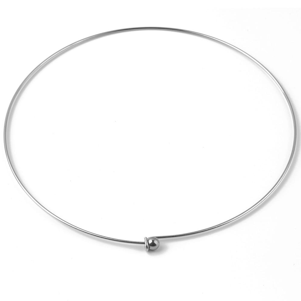 AliExpress - 2pcs Stainless Steel 1.2MM Thread Collar Korean Decoration Popular Neck Decoration Hanging Bracelet Jewelry Accessories
