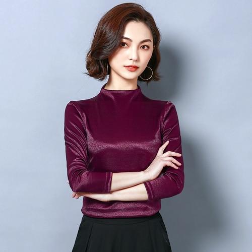 I02285 mujer moda 2019 ruffle blusa de seda blusa mujer top