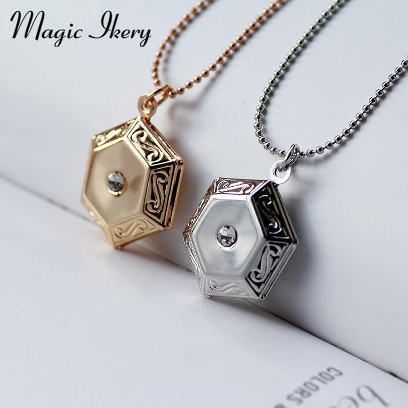 Magic Ikery Europa, colgantes personalizados, reloj de bolsillo abierto, colgante, collar para mujer, joyería de moda MKA51