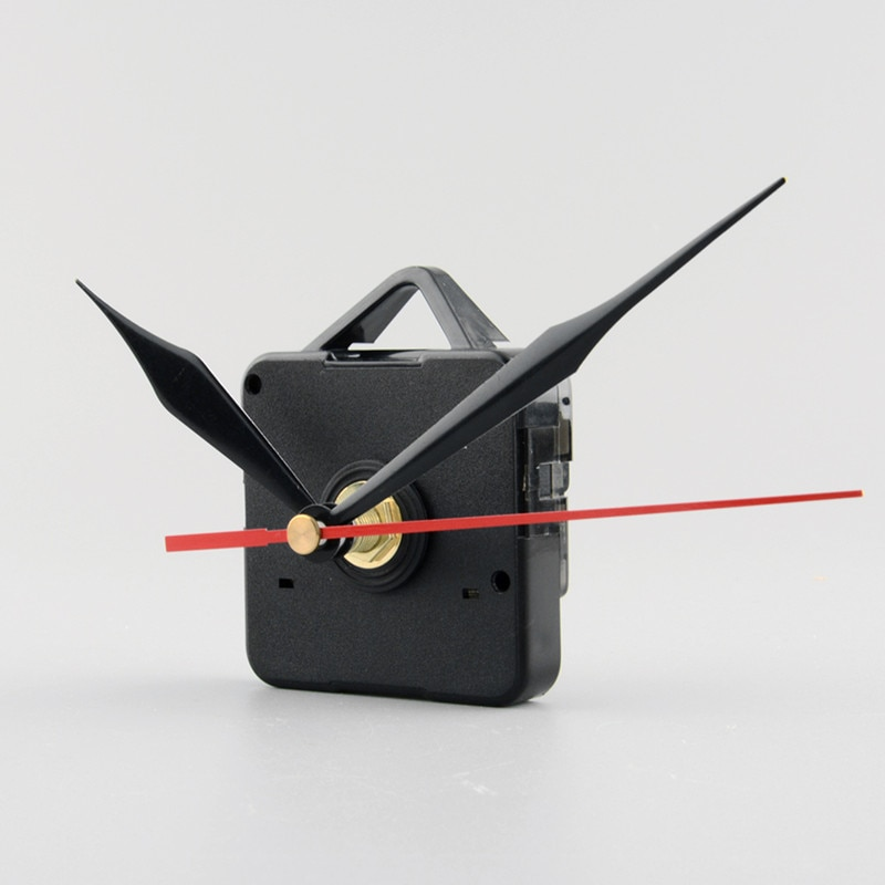 Silent Clock Quartz Movement Mechanism Black and Red Hands Kit Tool Set DIY Repair Parts Wall Clock Mechanical Clock Parts