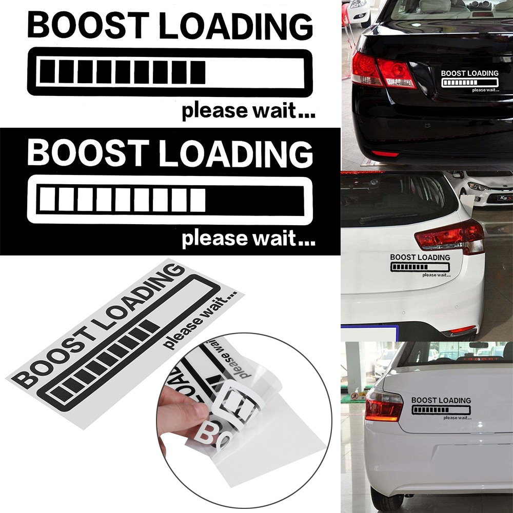 20 см * 8 см Автомобильная наклейка BOOST LOADING пожалуйста подождите... забавная Автомобильная Наклейка Виниловая наклейка для JDM Turbo Diesel Car Styling