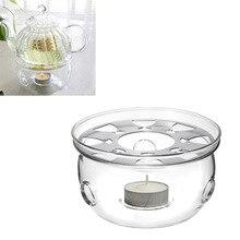 Base Portable de tetera transparente Base café agua té calentador de vela soporte de vidrio resistente al calor calentador de tetera Base de aislamiento