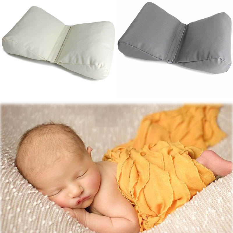Bebé recién nacido fotografía Shoot Props cabeza posando almohada cesta relleno Bebe Poser cojín de enfermería