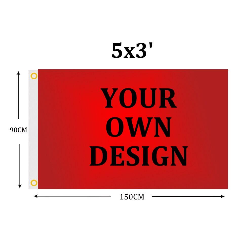 Banderines personalizados de poliéster de 5x3 pies