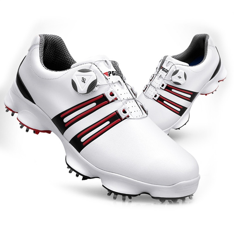 2020, zapatos de Golf para hombre, zapatillas deportivas impermeables, zapatillas de Golf giratorias para hombre, zapatos de Golf con hebilla, zapatillas de Golf de cuero de alta calidad