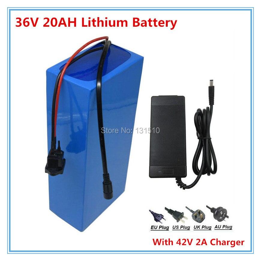 36 v 1000 w bateria 36 v 20ah bateria de lítio para bicicleta elétrica ebike akku com 42 v 2a carregador taxa aduaneira livre