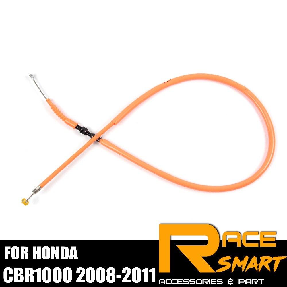 Cable de embrague para Honda CBR1000RR 2008-2011 CBR 1000 RR CBR1000 1000RR inoxidable Línea alámbrica de goma de la motocicleta 2009 2010 08 09 10