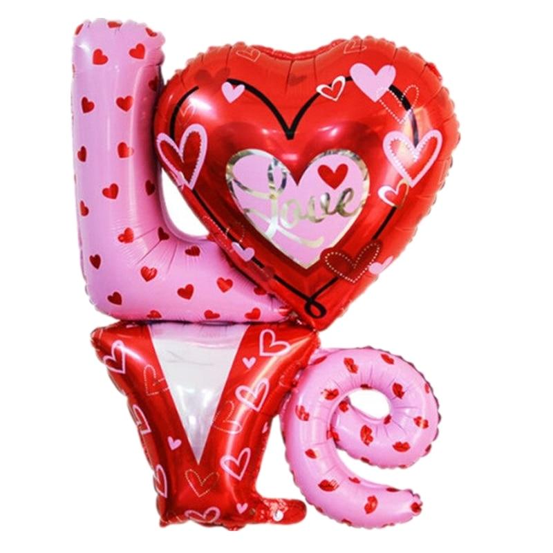 Фото - 1pc Babyshower Love Heart Shaped Aluminium Foil Balloon Party valentines day Wedding Wedding Anniversary Decoration Love Ballon 1pc 16inch te amo balloon spanish i love you foil letter baloon valentine s day wedding anniversary decoration supplies globos