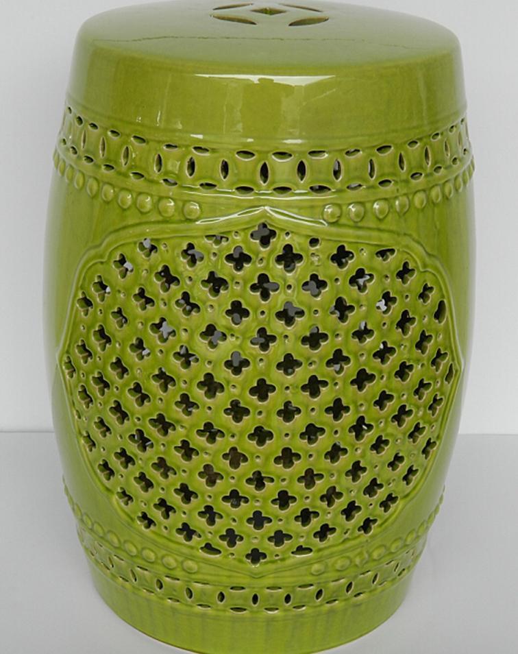Керамический зеленый цвет остеклен садовый табурет керамический дешево|garden
