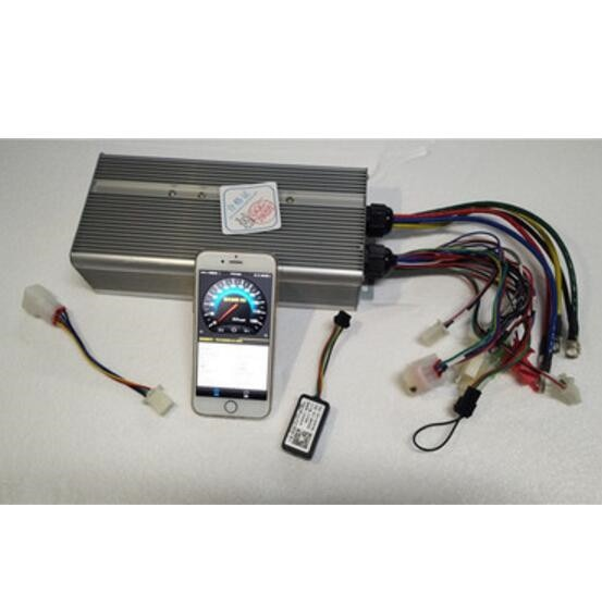Envío Gratis Bluetooth 15000W 60V ~ 120V Max 250A traje DC motor sin escobillas 4 ~ 5kW controlador e-bike bicicleta eléctrica control de velocidad