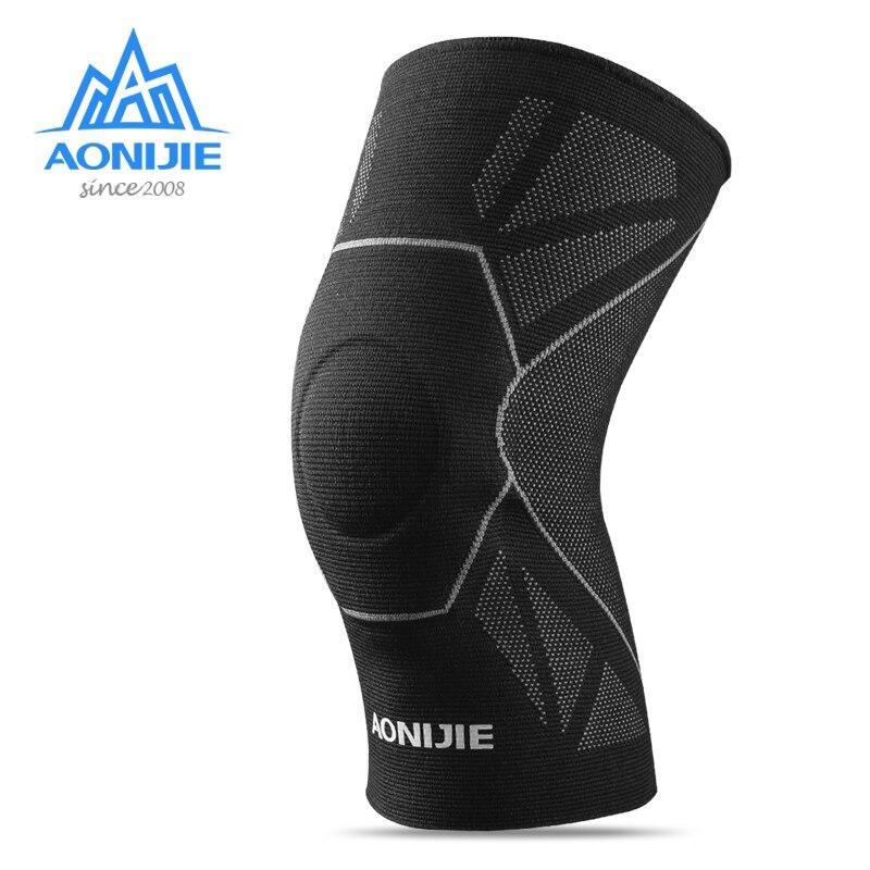 AONIJIE E4108 1 Uds rodillera de compresión, funda protectora para rodilla, rodillera de soporte, correa de seguridad para voleibol Marathon