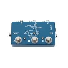 Bunte elektrische gitarre looper pedal 3 kanal auswahl effekte swithc ABY box pedale für gitarre liebhaber