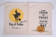 Sac cadeau pour bonbons dhalloween   Sac à bonbons, sac à cordon, toile de coton 36x48 cm, sacs fourre-tout araignée citrouille pour enfants, nouvelle collection 2016