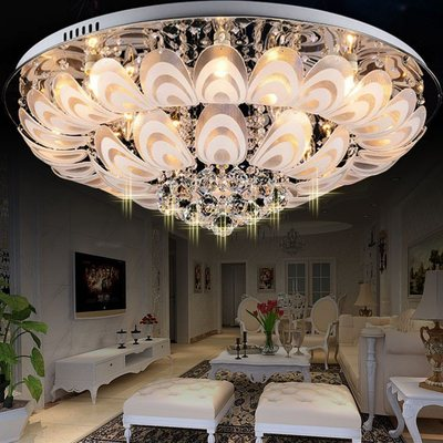 Mordern Flower Design Led Ceiling Lights Remote Controller Dimmable Bedroom Led Ceiling Lamp Living Room Ceiling Light Fixtures