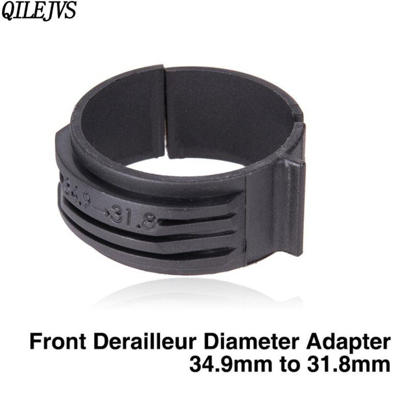 QILEJVS Fahrrad Umwerfer Durchmesser Adapter Ring 34,9mm zu 31,8mm Clamp Für Chrom Molybdän Stahl Rahmen Rennrad MTB