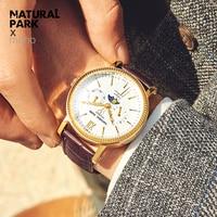 Fashion Watch men Luxury top brand NATURAL PARL men watch waterproof Wristwatch multifunction Men Clock quartz watch Calendar