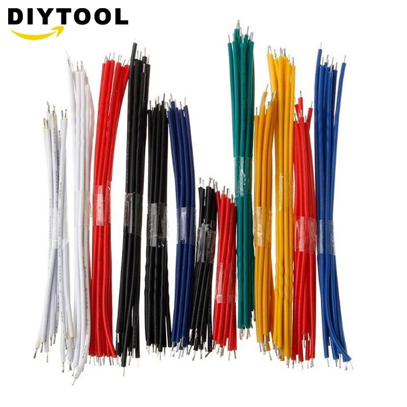 130 шт. 24AWG макетная плата, комплект проводов с Оловянным покрытием, набор двойных луженых компонентов, цветные 13 типов по 10 шт.
