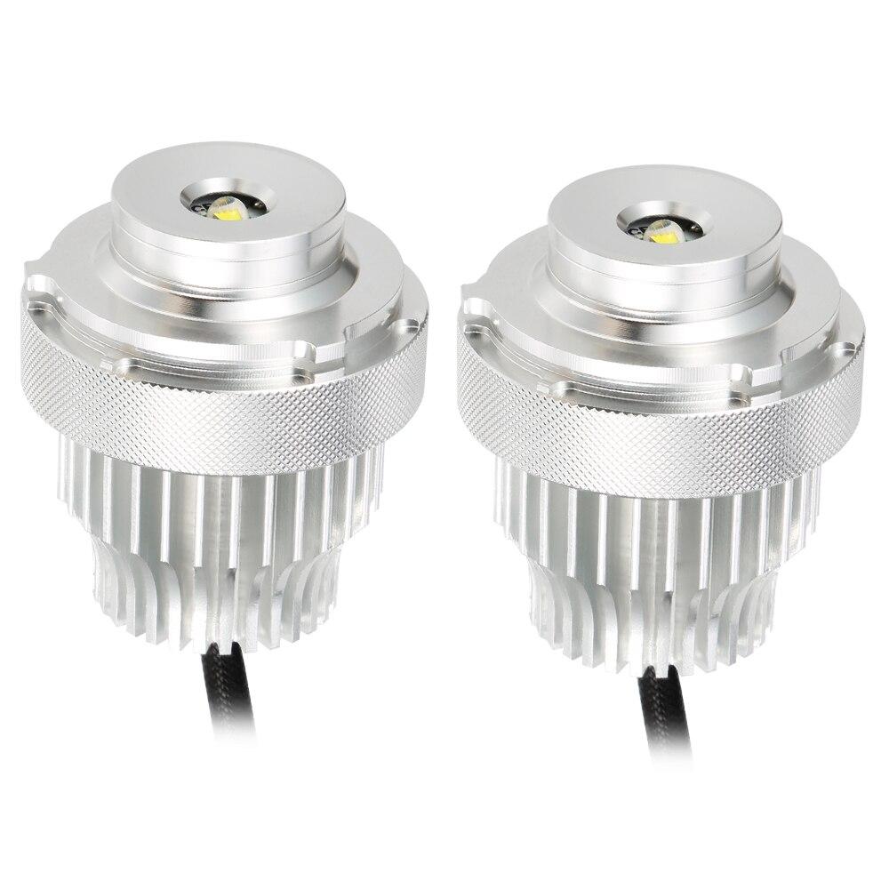 2 uds. Luces de posición LED de Ojos de Ángel 80W sin Error para BMW serie 5 E60 E61 LCI LED Halo anillo de luz Kits de bombillas de estilo de faro de coche