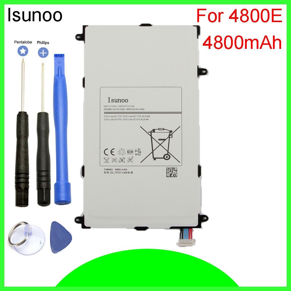ISUNOO 5 шт./лот T4800E T4800C аккумулятор 4800 мАч для Samsung Galaxy Tab Pro SM T320 T321 T325 литий-полимерная батарея
