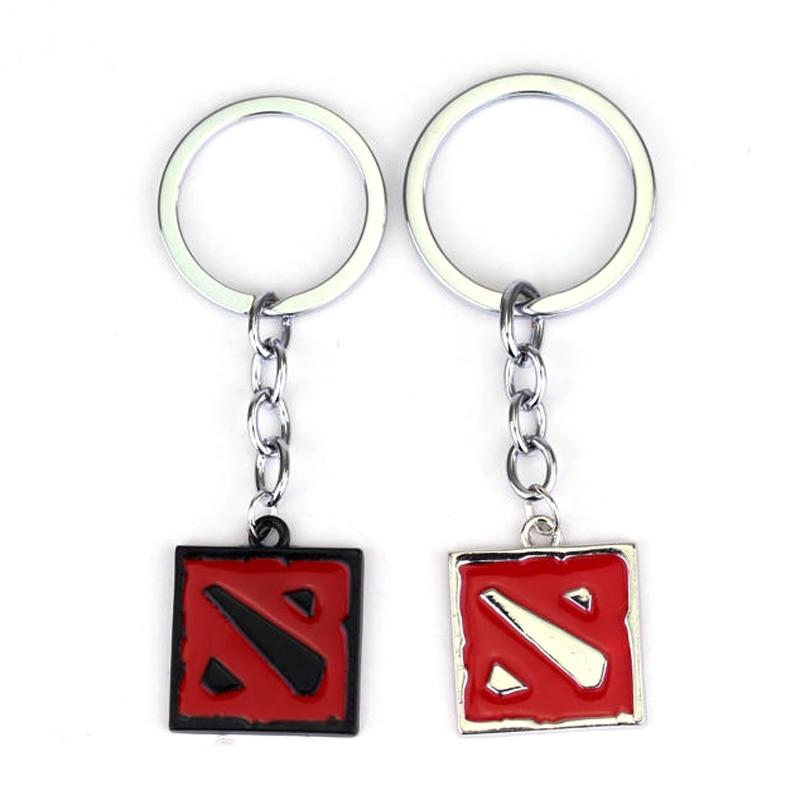 Брелок dongsheng Dota 2, онлайн-игра Dota2, Классическая Подвеска квадратной формы с логотипом, брелок для ключей в подарок на 2 вида цветов, брелок ювелирный