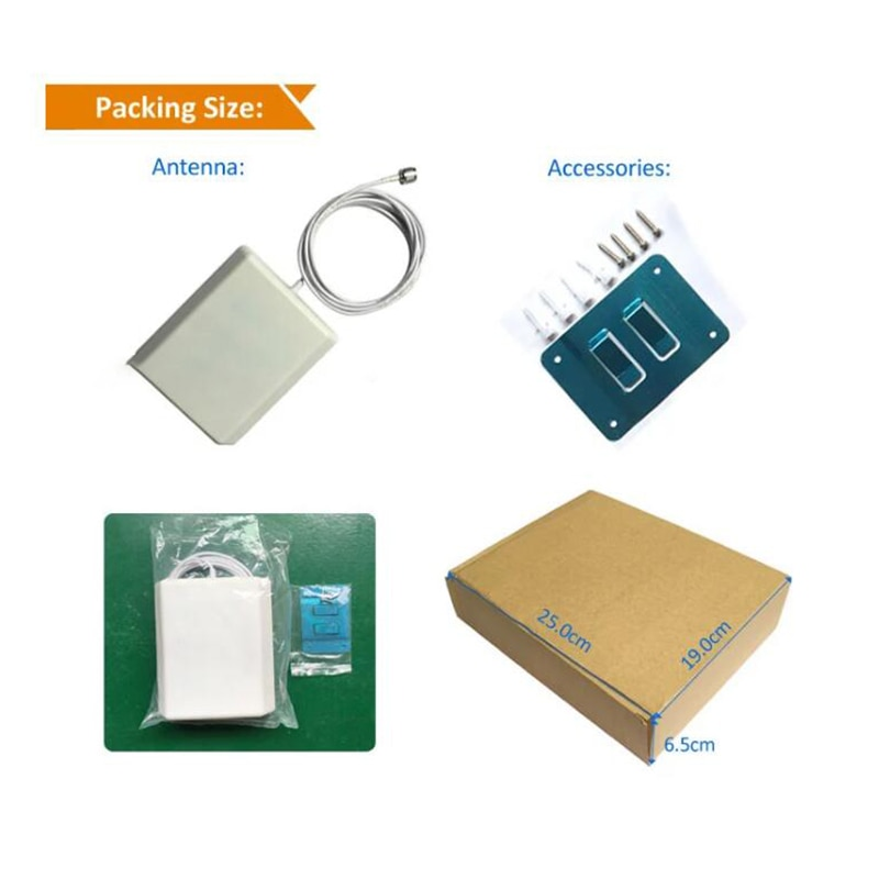 Indoor/outdoor 1710-2700 Mhz LTE MIMO antena painel de orientação 3G 4G Wi-fi antena cabo RG58 medidor de 3 conector SMA alimentador 1 PCS