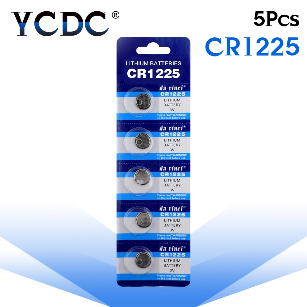 Pilas de botón 5 unids/pack CR1225 LM1225 BR1225 KCR1225 batería de botón de litio 3V CR 1225 para reloj electrónico de juguete remoto