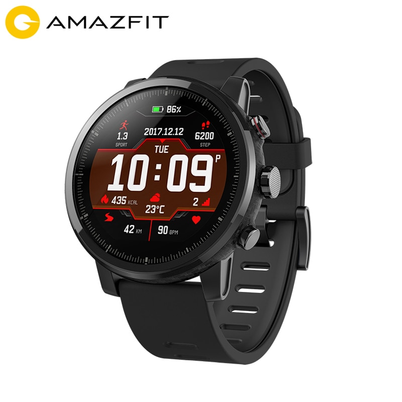 Huami Amazfit 2 Amazfit Stratos Pace 2 reloj inteligente para hombres con GPS Xiaomi relojes PPG Monitor de ritmo cardíaco 5ATM impermeable