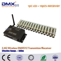 dhl free shipping 2 4ghz lcd display dmx512 wireless transmitter receiver for stage wireless lightbuilt in wireless receiver