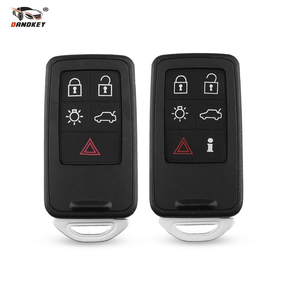 Dandkey funda inteligente para llave de mando a distancia 5 6 botones para Volvo S60 V60 S80 XC70 XC60 V70 Fob reemplazo con hoja