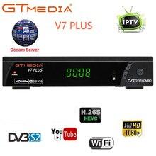 Récepteur combiné TV Satellite DVB-S2 GT Media V7 Plus DVB-T2 1080P prise en charge Full HD H.265 + 1 an récepteur TV CCCAM européen espagne
