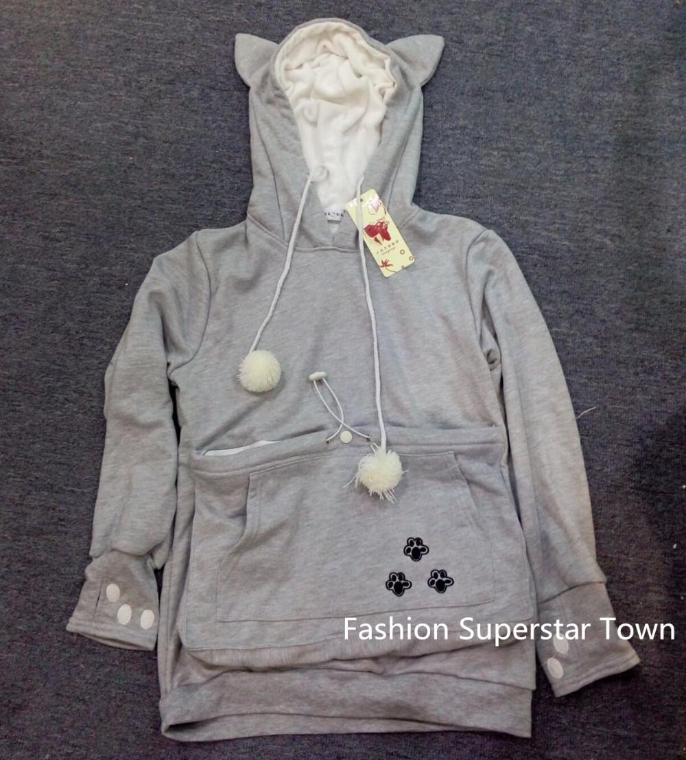 Cat lovers bluzy z cuddle etui dog pet bluzy dla kangura dorywczo swetry z uszy bluza 4xl drop shipping 7