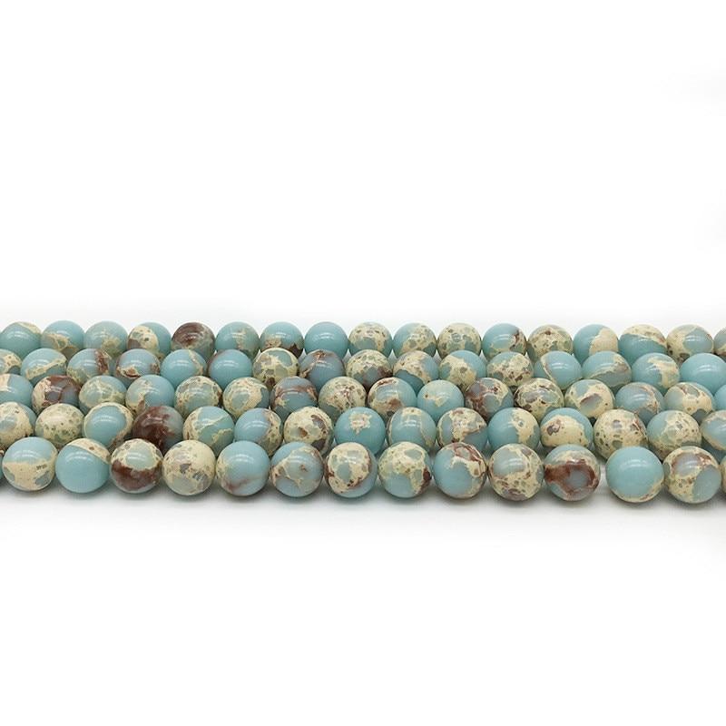 Joyería Natural de 4mm, 6mm, 8mm, 10mm, 12mm, cuentas redondas de piedra de Shoushan para abalorios, joyería de Yoga, collar de pulsera Diy
