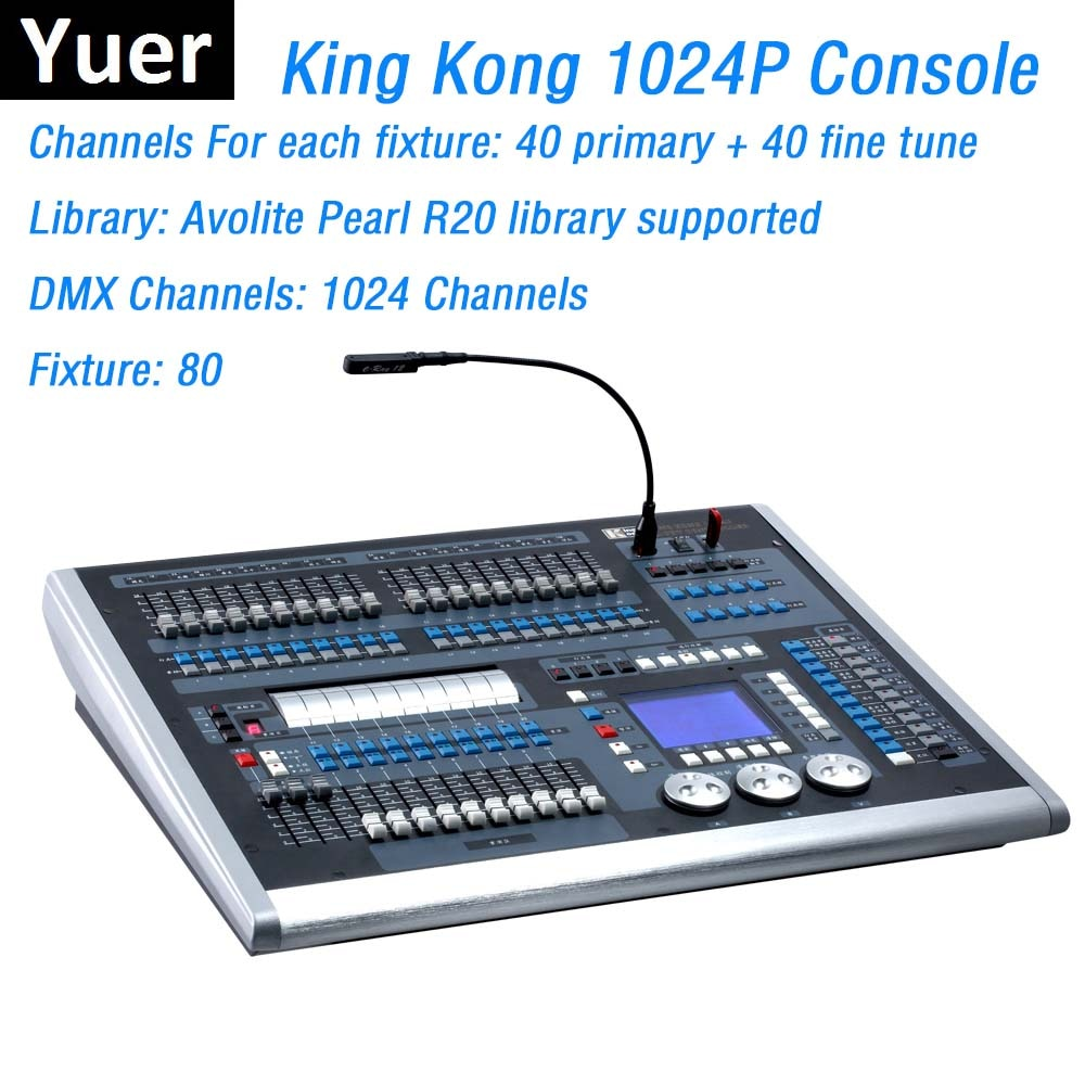 Dj معدات الإضاءة الملك كونغ 1024P DMX تحكم LED تتحرك إضاءة أمامية وحدة التحكم DMX512 الكمبيوتر أضواء للمسرح المراقب المالي