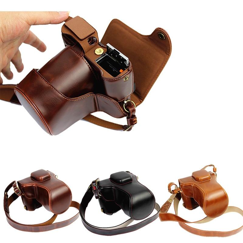Роскошный чехол для цифровой камеры из искусственной кожи, сумка для Fujifilm XT1 Fuji XT-1 с ремешком и аккумулятором, 3 цвета