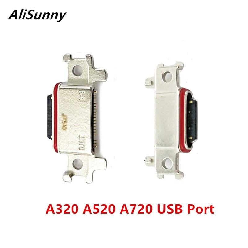 Alisunny 10 pçs usb conector da doca para samsung galaxy a320 a520 a720 2017 porta carregador de carregamento micro soquete a3 a5 a7 peças