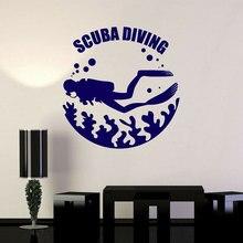 Submarinismo subacuático buceo burbujas de pared pegatinas vinilo decoración del hogar habitación mar calcomanías extraíble Mural A193