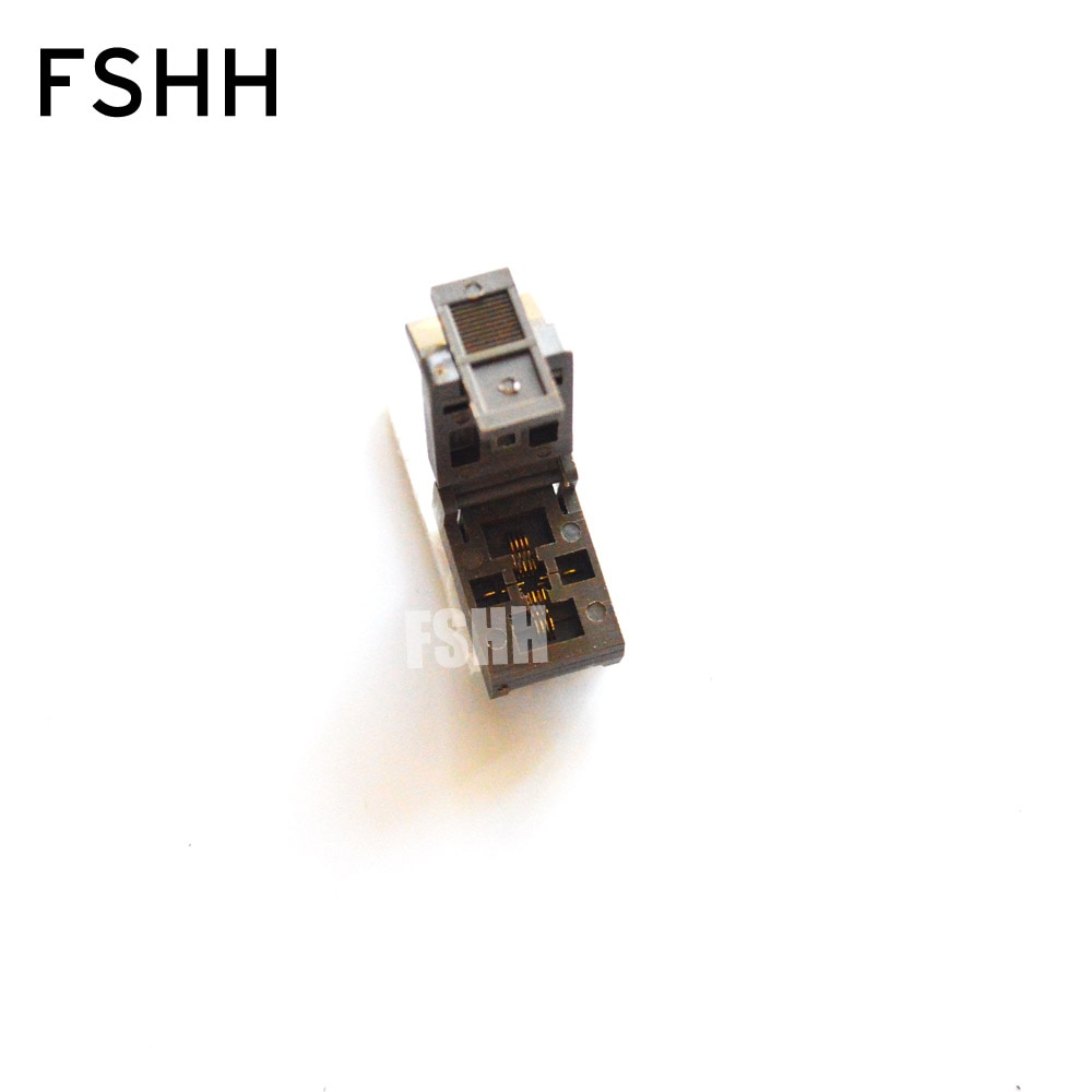 QFN8 test socket WSON8 MLF8 DFN8 ic test socket Pitch=0.5mm size=3mmx3mm enlarge