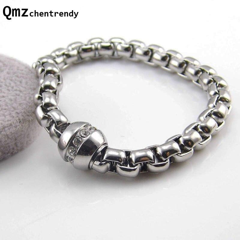 Top qualité hommes bijoux fins Bling CZ fermoir marque de luxe magique puissance Bracelet circulaire aimant gemme femmes boîte chaîne Bracelets