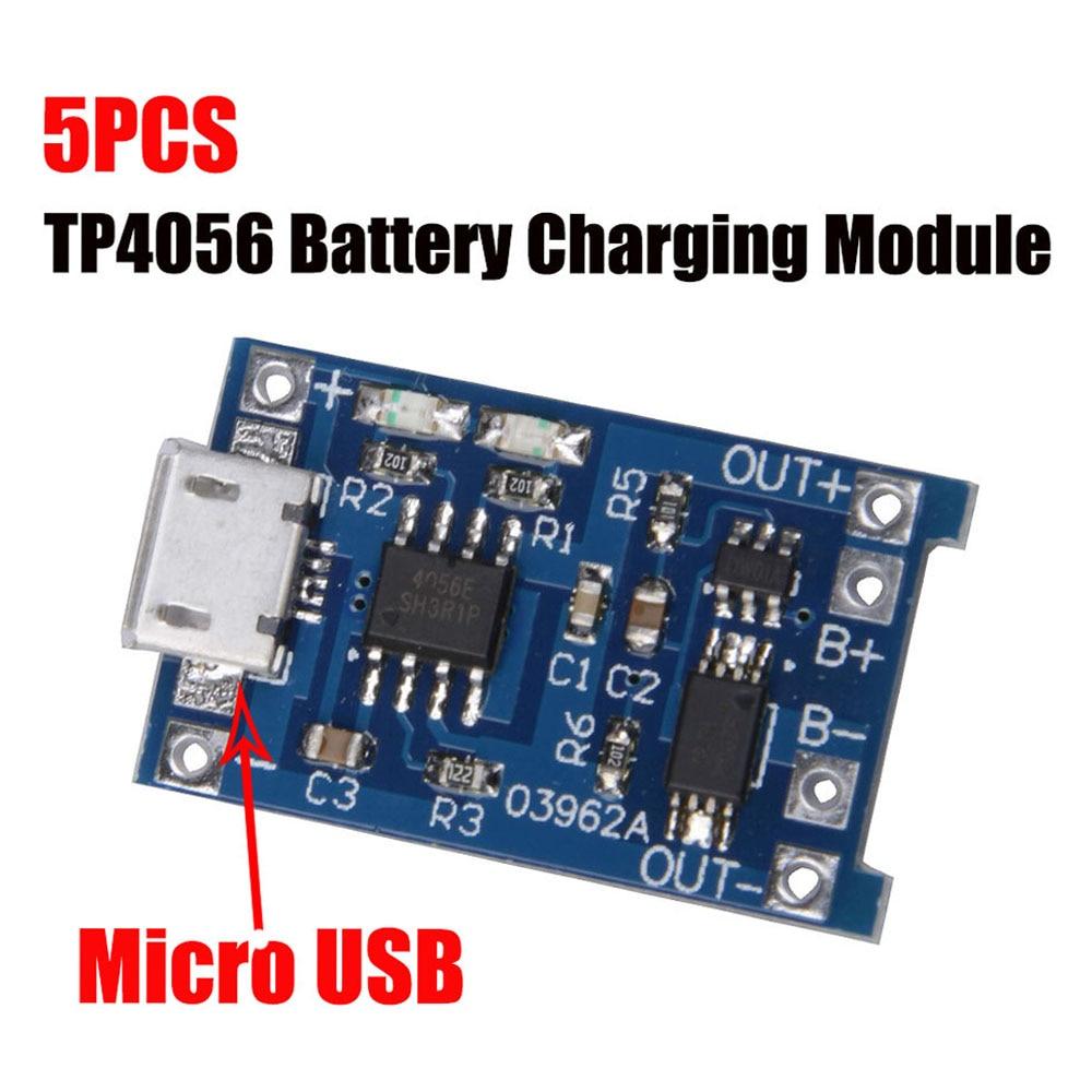 5 шт., зарядная плата TP4056 5 в 1 а Micro USB 18650