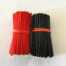 1000 pièces carte mère platine de prototypage cavalier câble 24AWG noir et rouge fils électroniques étamé 6cm composants électroniques accessoires