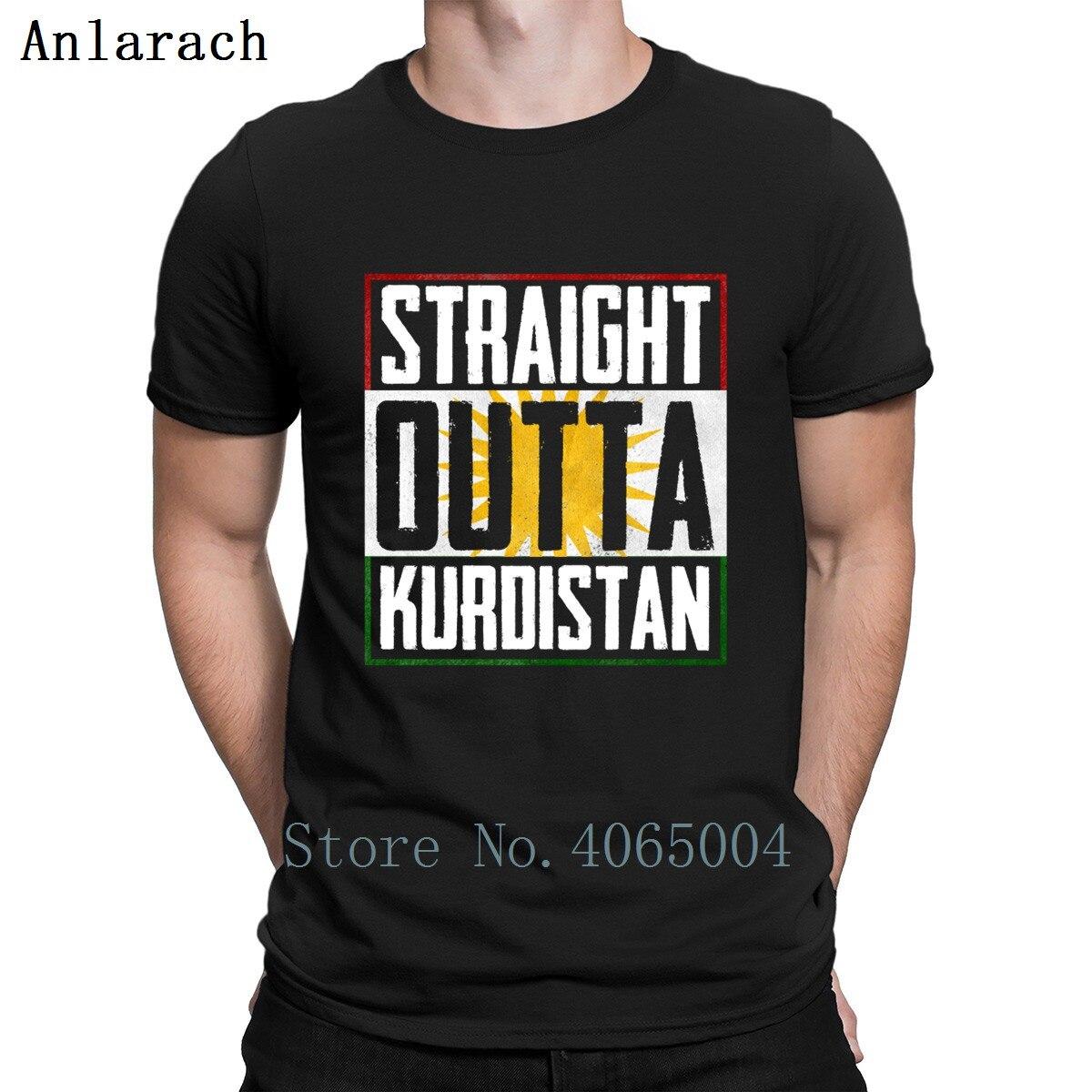 Camiseta recta del delantal del Kurdistán conjunto Crazy o-cuello personalizar divertida camisa Casual del estilo del verano del algodón Delgado